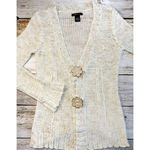 ✨BCBG Floral Wooden Button Cardigan